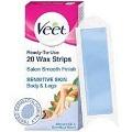 Veet Hair Removal Waxing Strips Kit Sensitive Skin