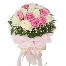 White pink with Designer  PACK Bunch