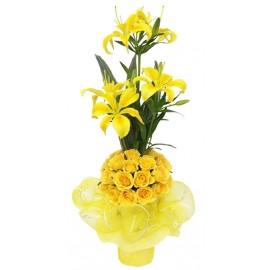 Lilies Yellow  Mix Bunch