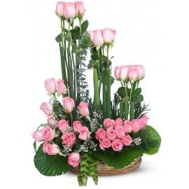 Pink Long basket