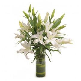 White lilies glass Port