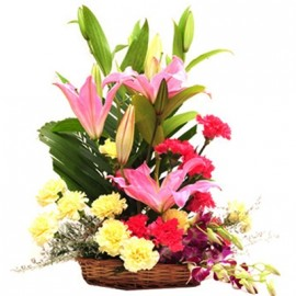 Lilies and Carnation Basket
