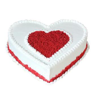 Heart core white Red velvet