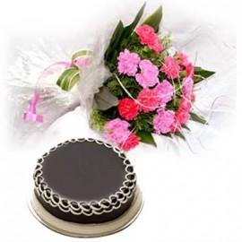 Truffle cake with Mix Flower