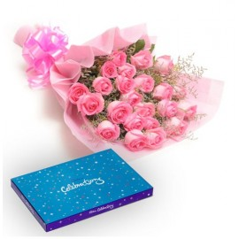 Pink Rose With Celebration pack