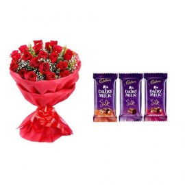 Rose with 3 Choco