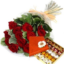 Rose Bouquet with 1 kg Sweet