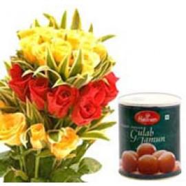 20 Mix Rose with Gulab jamun