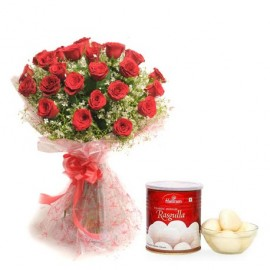 Rose Bouquet with 1 kg Ragula