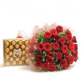 Large Ferro Rocher box With flower