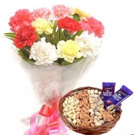 Flower and Choco dry fruit Box