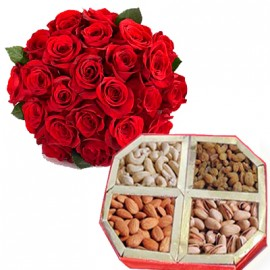 30 Rose with Mix Dry Fruit