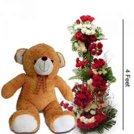 4ft Flower with 1ft Teddy