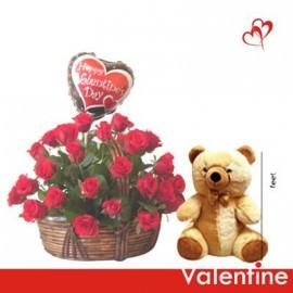 Valentine love with teddy