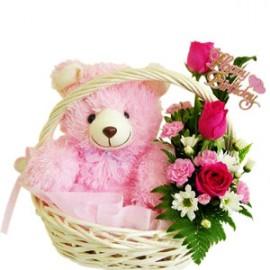 Teddy flower tokri