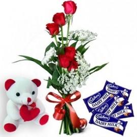 Flower teddy love