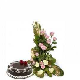 congratulation cake with flower