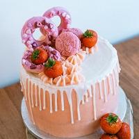 Exotic Strawberry Cake